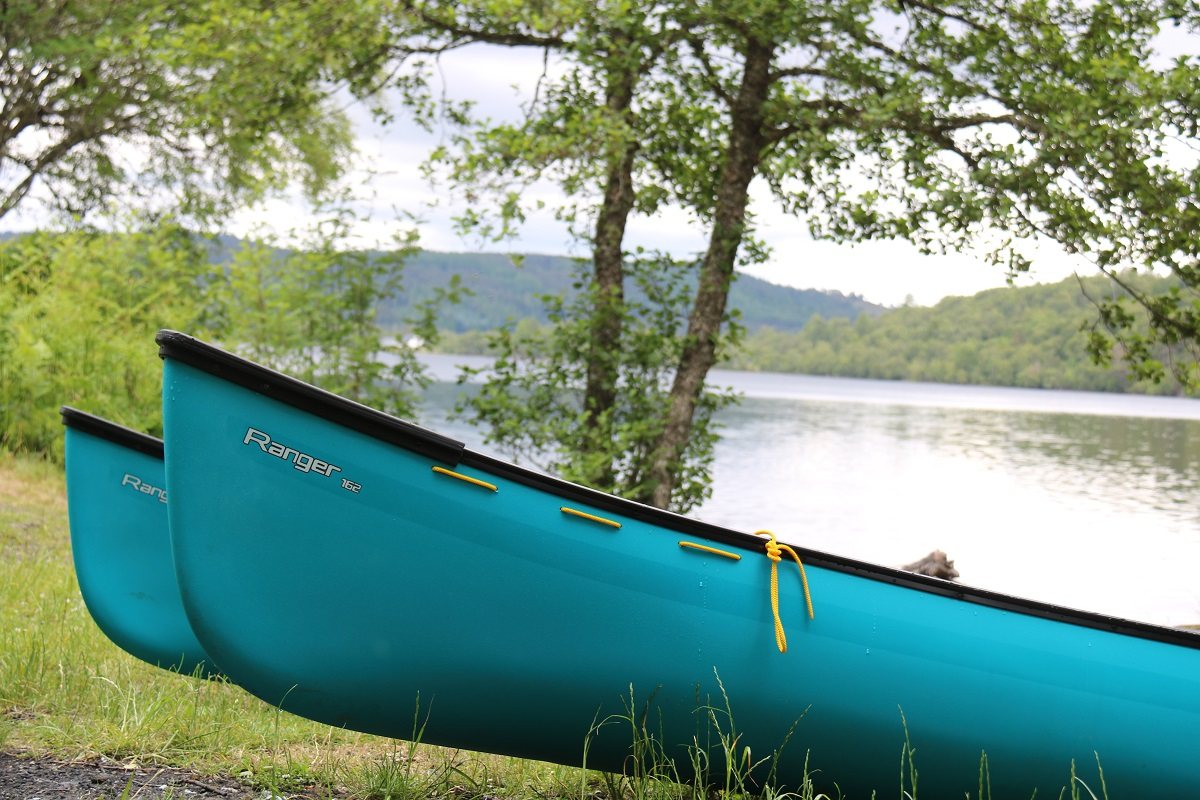 Canoes on the edge of a loch